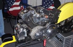 1200cc Harley Davidson Engine on a skateboard