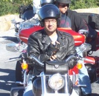 Me in my Harley Davidson Jet II helmet at Skyline Drive