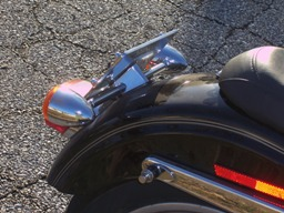 Dyna turn signal relocation completed