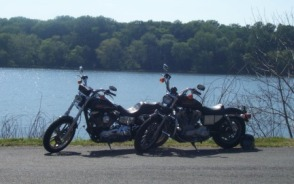 Two Harleys On The River