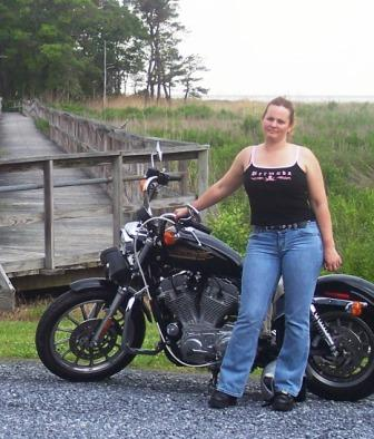 Diana and her prized Sportster
