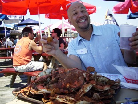 Hush Puppies, Jumbo Crabs and Yuengling Beer
