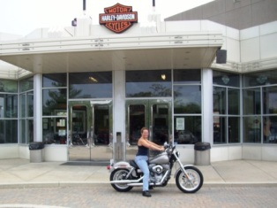 Diana at Mikes Famous Harley Davidson in New Castle, DE