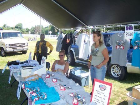 MAV merchandise booth