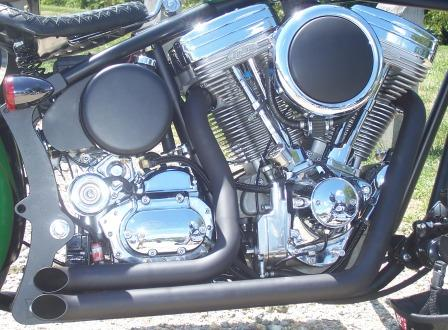 engine detail of chopper