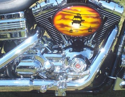 USMC nam Bike air filter cover