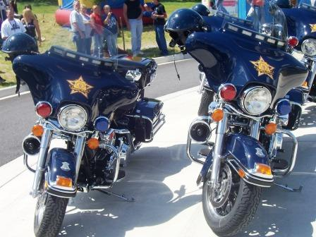 The sheriff bikes that lead us