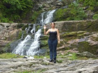 Diana at Kent Falls State park