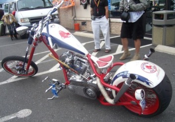 Red Sox Custom Motorcycle