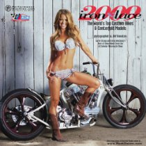 2009 motorcycle iron and lace babe calendar