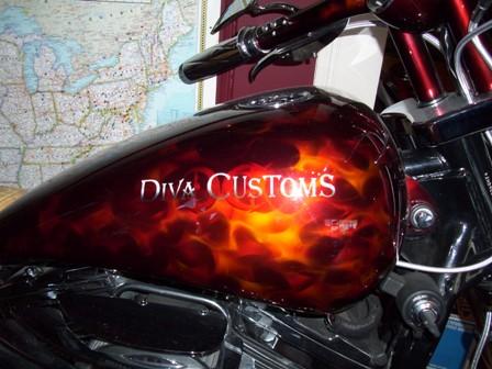 Diva Custom Gas Tank