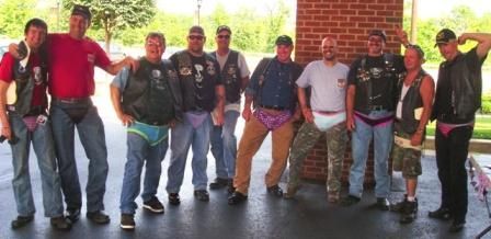 first state HOG men at baltimore metro panty poker run