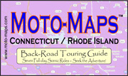 Connecticut and Rhode Island Moto-Map