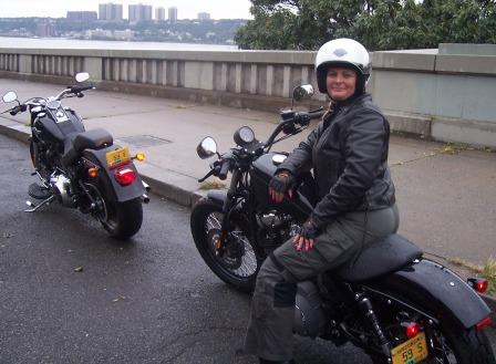 Diana in new York on 2010 Nightster