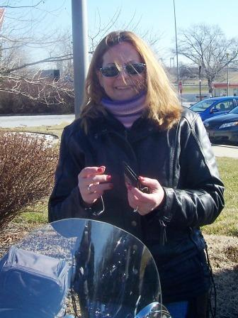 Chilly Diana at Mike's famous Harley Davidson new castle