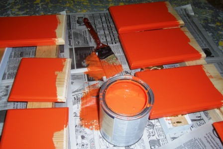 base and deck painted orange