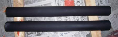 pvc spray painted black