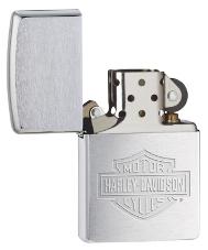 Brushed Steel Harley-davidson Zippo