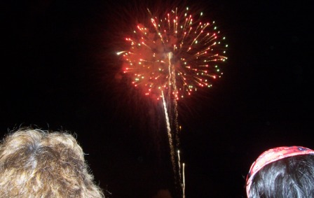 fireworks at Gettysburg