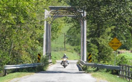 across the bridge to Fox Creek Leather