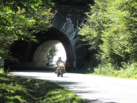 Diana coming through a tunnel