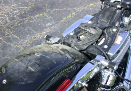 remove seat to place antenna cable under