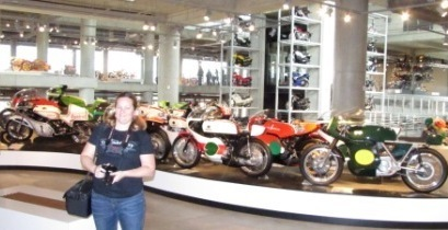 race bikes on display
