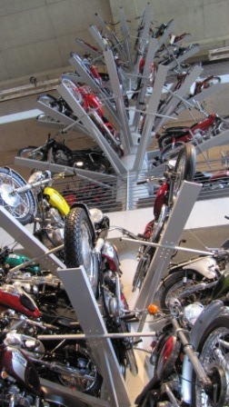 A tree of motorcycles