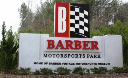 barber Motorsports sign