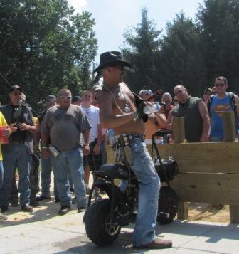 Biker Cowboy with minibike 1