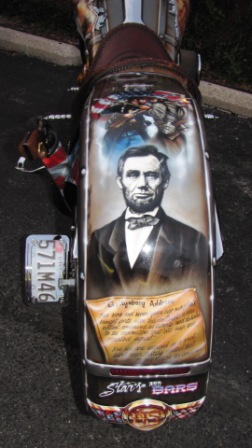 civil war bike rear fender lincoln and gettysburg address