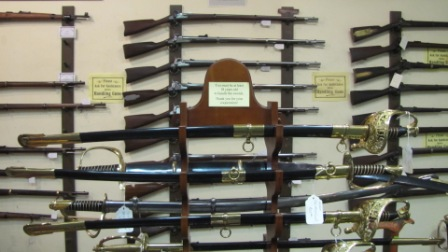 civil war period guns and swords