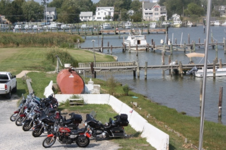 bikers at harrisons chesapeake house