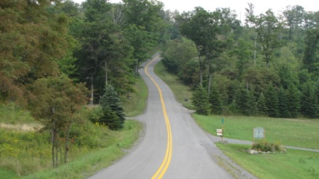 cool hilly roads in garrett county, md