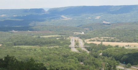 the view of i68 from town hill