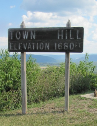 town hill elevation sign