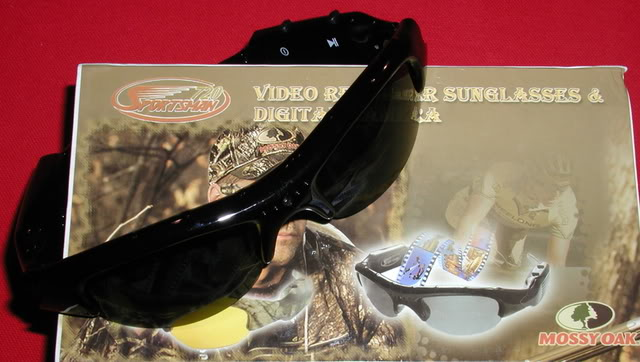 sportsman 720 black av glasses with built in video camera