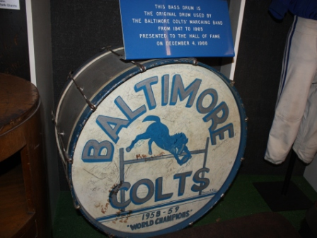 NFL Hall of Fame_Baltimore Colts Band