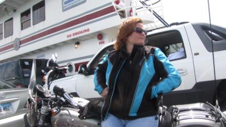 Diana onthe Ocracoke ferry