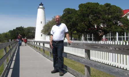 Jay at Ocracoke Lighthouse