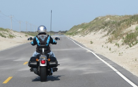 Riding on Ocracoke Island