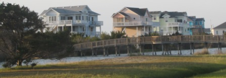Beach houses on cape hatteras island
