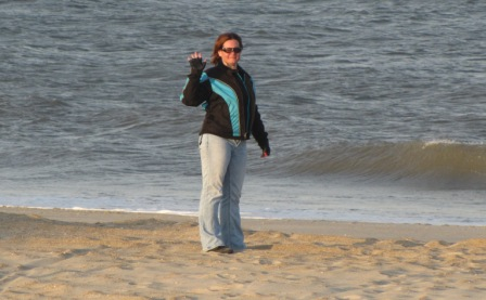 Diana Cape Hatteras Ocean Beach Waving