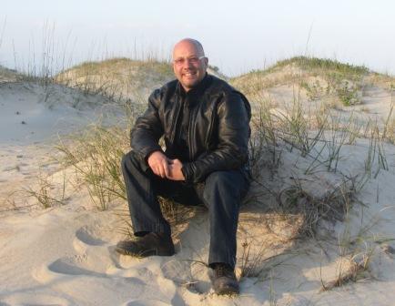 Jay on a sand dune