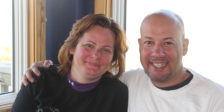 jay and Diana at the Sandbar and Grill inside