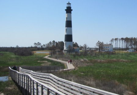 Bodie island Lighthouse from swamp