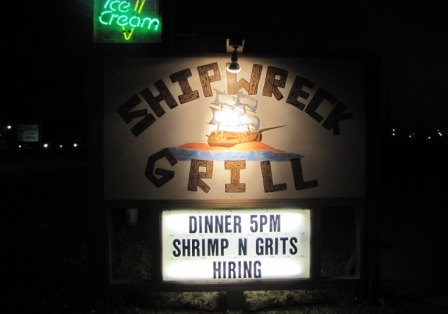Shipwreck Grill Sign
