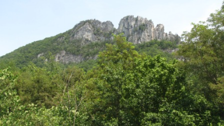 Seneca rocks from the visitor center
