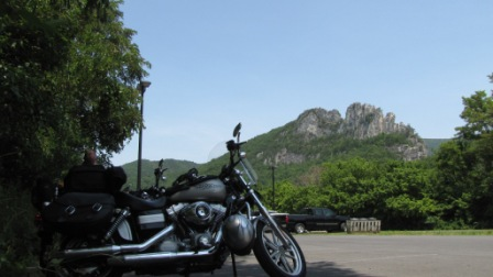 shadey spot with a view of seneca rocks