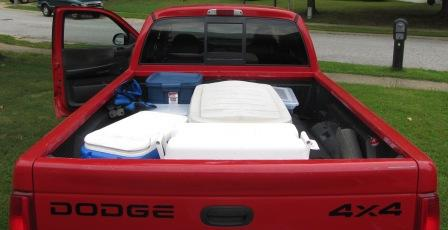 full load in the Dodge bed